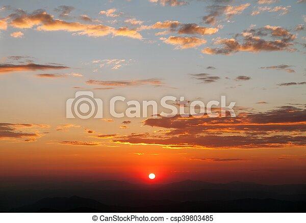 Evening sunset view of beautiful sky - csp39803485