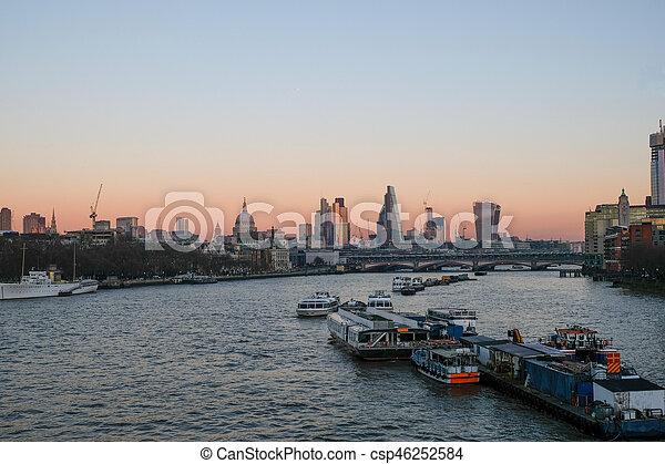 Evening View From Waterloo Bridge