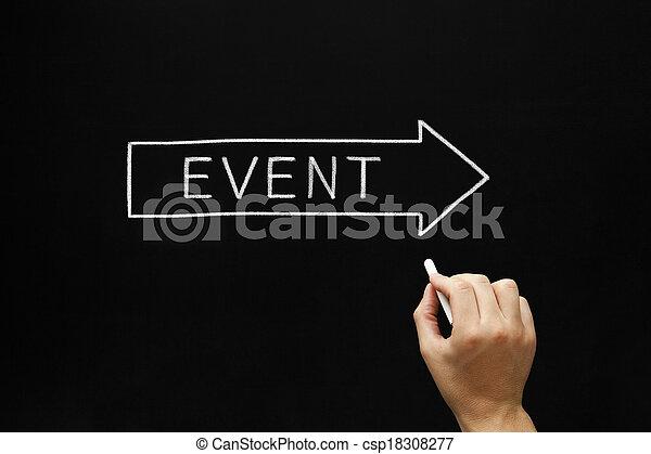 Event Arrow Concept on Blackboard - csp18308277