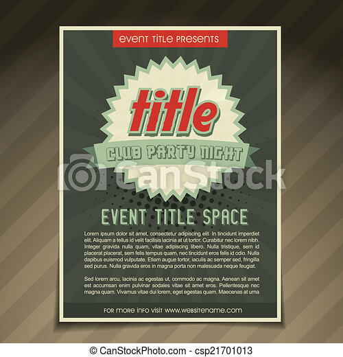 Event Flyer Design Vector Event Flyer Brochure Template  Vector