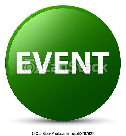 Event green round button - csp50767627