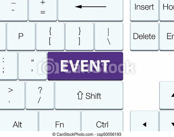 Event purple keyboard button - csp50056193