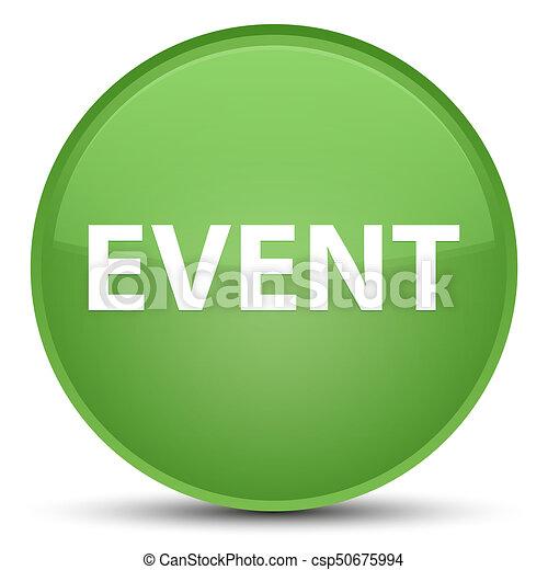 Event special soft green round button - csp50675994