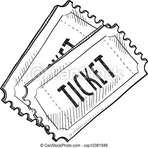 Event ticket sketch - csp10381848