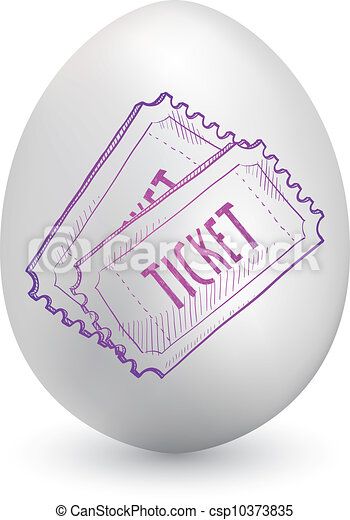 Event tickets on easter egg - csp10373835