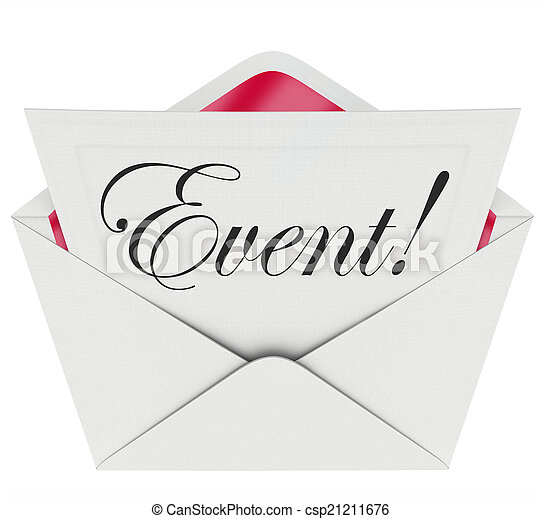 event word invitation envelope special access vip admission event