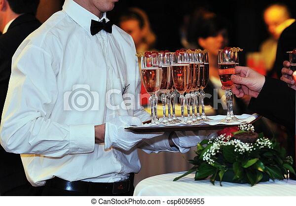evento, partido, coctail, banquete, catering - csp6056955