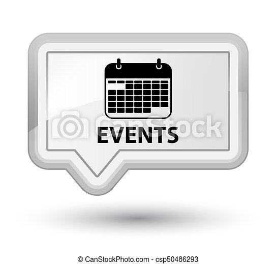 Events (calendar icon) prime white banner button - csp50486293