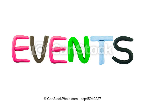 Events , clay on the white background - csp45949227