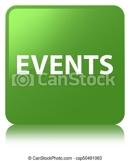Events soft green square button - csp50491063