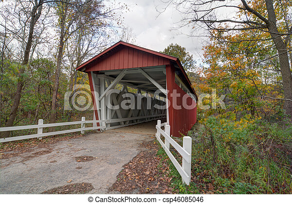Everett Road Covered Bridge - csp46085046