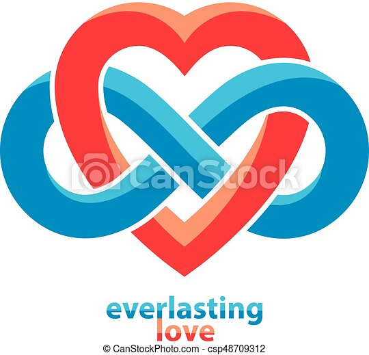 Everlasting Love Concept Vector Symbol Created With Infinity Loop