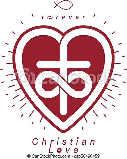 Everlasting Love Of God Vector Creative Symbol Design Combined With