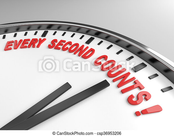 every second counts - csp36953206