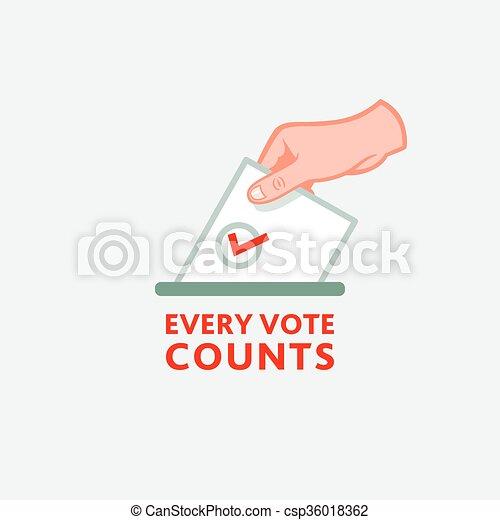Every vote counts - csp36018362