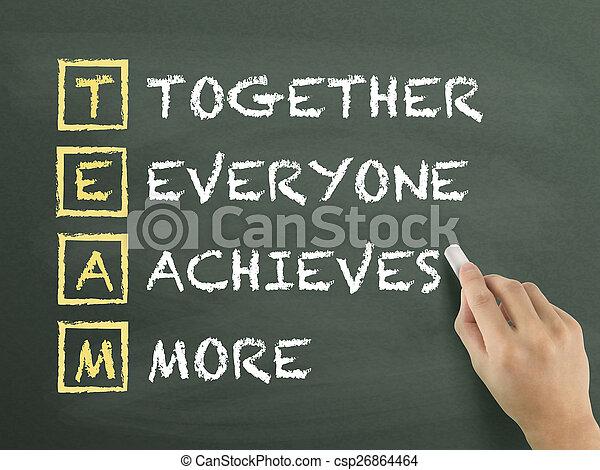 everyone, ensemble, main, réalise, écrit, plus - csp26864464