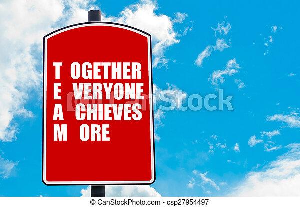 everyone, ensemble, plus, réalise - csp27954497