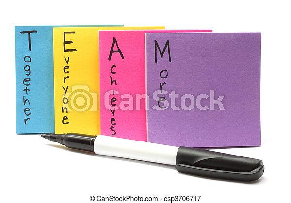everyone, ensemble, réalise, stylo, équipe, plus - csp3706717