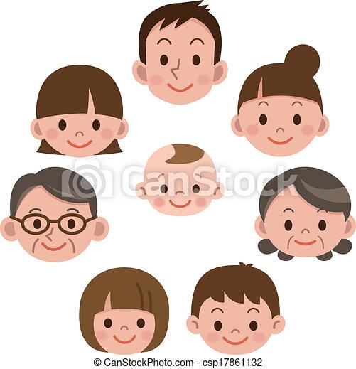 everyone, glad familie, smile - csp17861132