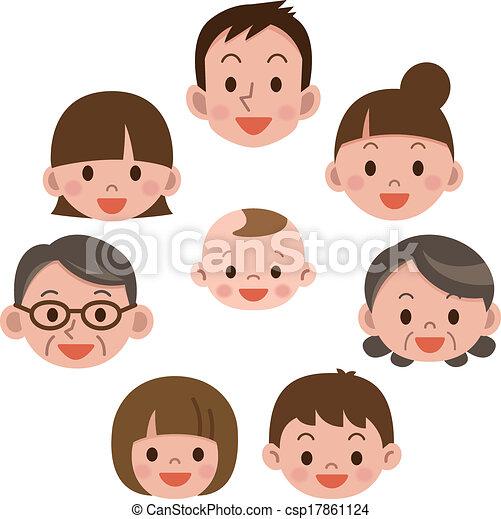 everyone, glad familie, smile - csp17861124