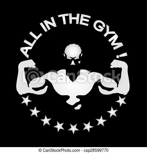 everyone in gym and fitness room symbol for training in