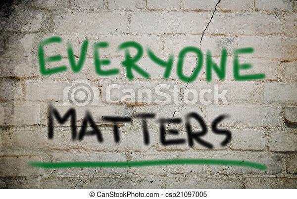 Everyone Matters Concept - csp21097005