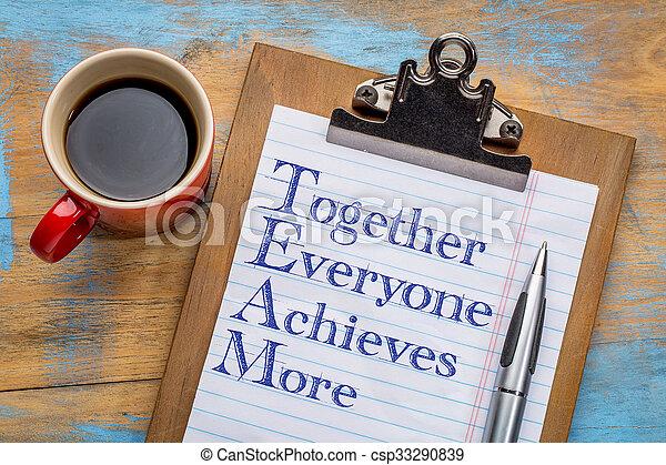 everyone, -, plus, réalise, ensemble, équipe - csp33290839