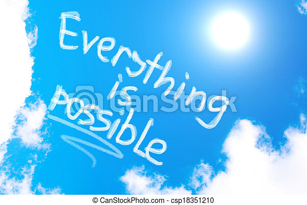 Everything Is Possible Concept - csp18351210