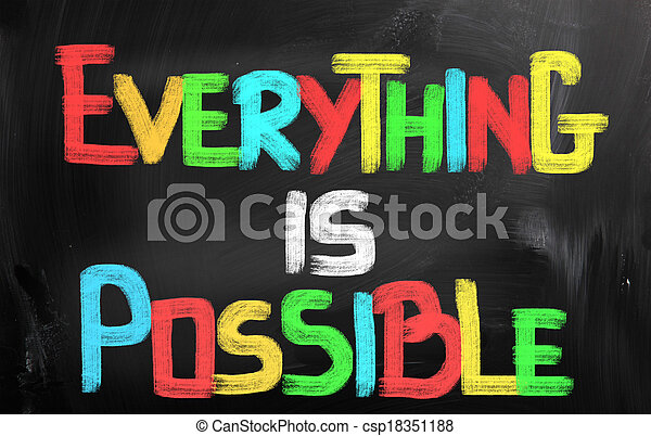 Everything Is Possible Concept - csp18351188