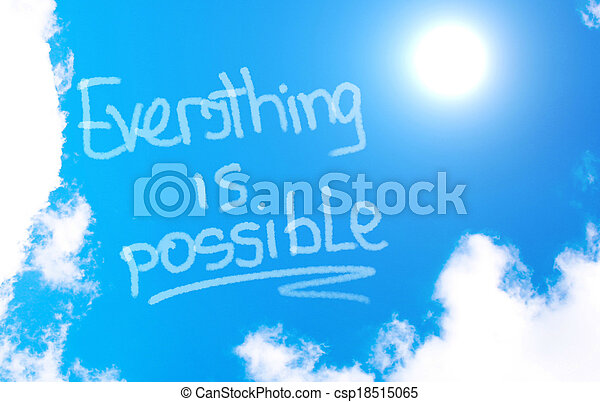 Everything Is Possible Concept - csp18515065