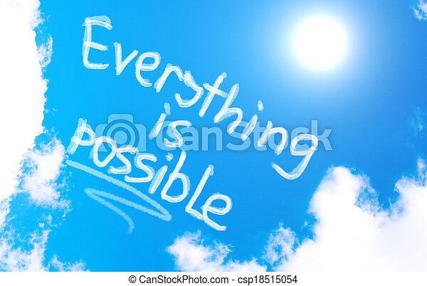 Everything Is Possible Concept - csp18515054