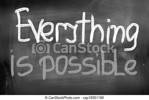 Everything Is Possible Concept - csp18351190
