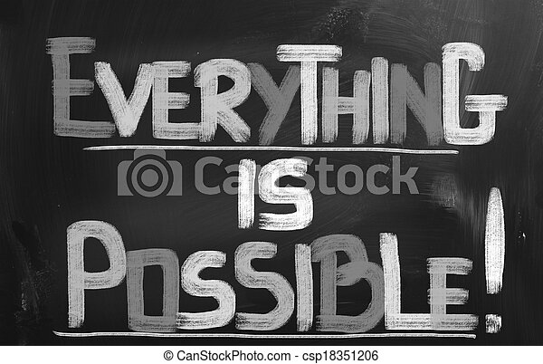 Everything Is Possible Concept - csp18351206