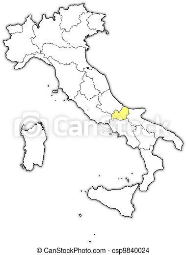 Cartina Molise Politica.Evidenziato Mappa Italia Molise Mappa Italia Molise Politico Regioni Highlighted Parecchi Dove Canstock