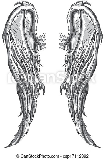 Evil angel wings eps vectors search clip art illustration drawings and images csp17112392 - Free evil angel pictures ...