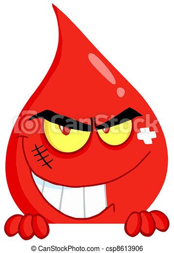 Evil Blood Guy Grinning  - csp8613906