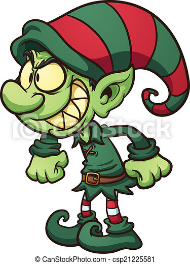 evil christmas elf vector clip art illustration with simple rh canstockphoto com clipart elderly clip art elf shoes