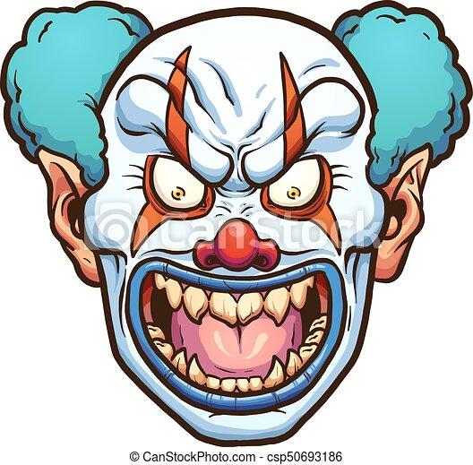 evil clown evil cartoon clown head vector clip art vector rh canstockphoto com evil clipart clipart evil laugh