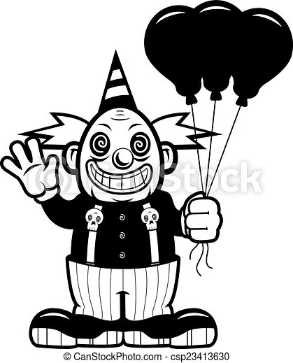 Evil Clown - csp23413630