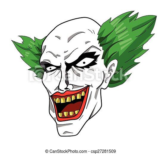 Evil clown head - csp27281509