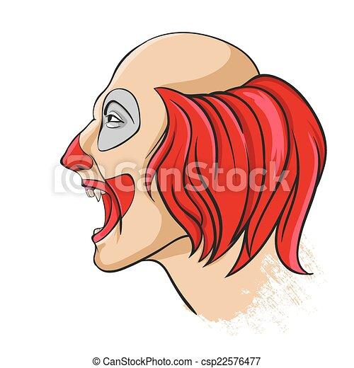 Evil clown portrait - csp22576477