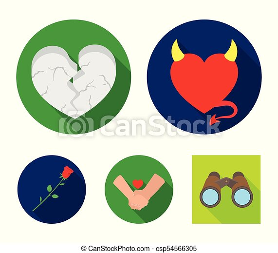 Evil Heart Broken Heart Friendship Rose Romantic Set Collection