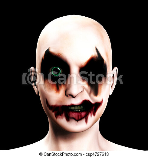 Evil Psychotic Female Clown A Totally Evil Psychotic Female Clown