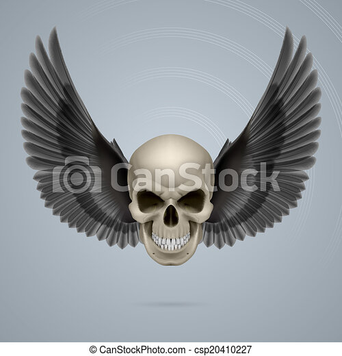 Evil skull with wings - csp20410227