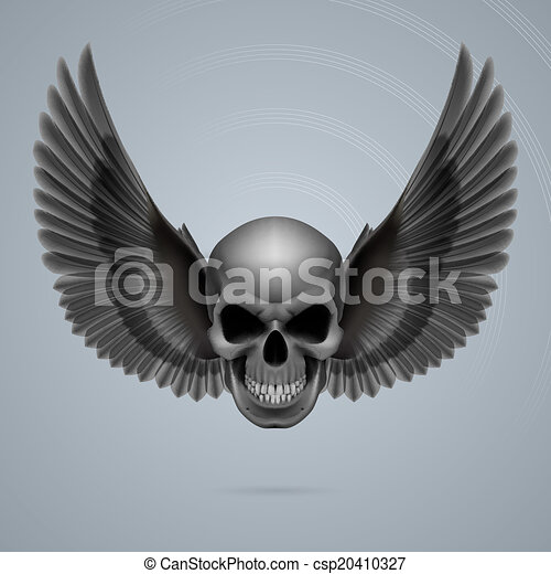 Evil skull with wings - csp20410327
