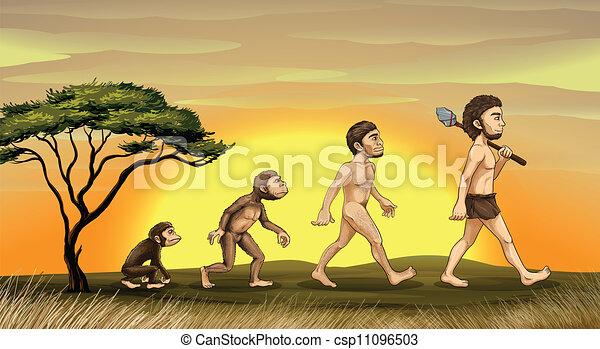 Evolución del hombre - csp11096503