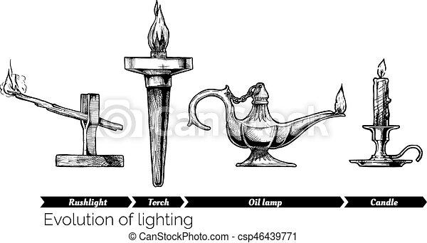 Evolución de iluminación - csp46439771