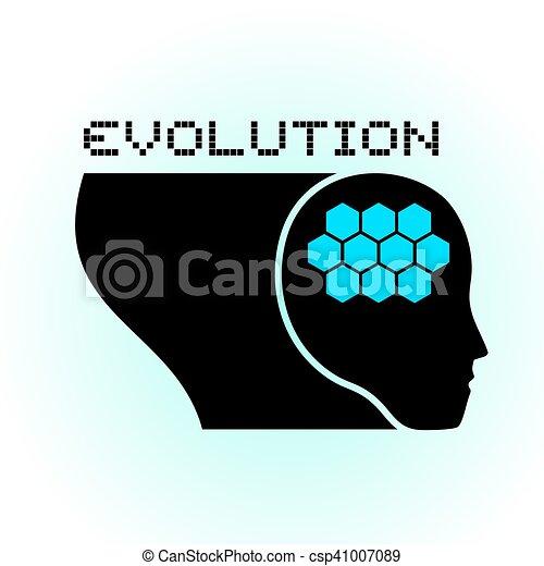 Creative Design Of Evolution Brain Symbol
