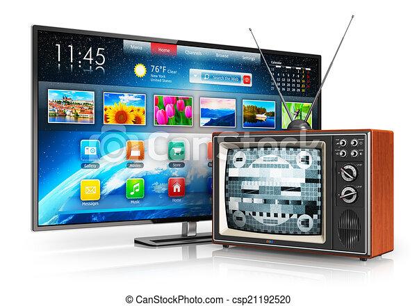 Evolution of television - csp21192520