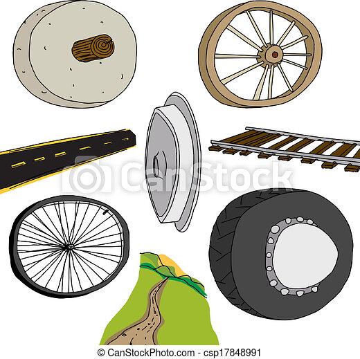 Evolution of The Wheel - csp17848991